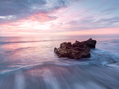 Soft pinks and blues at Coral Cove