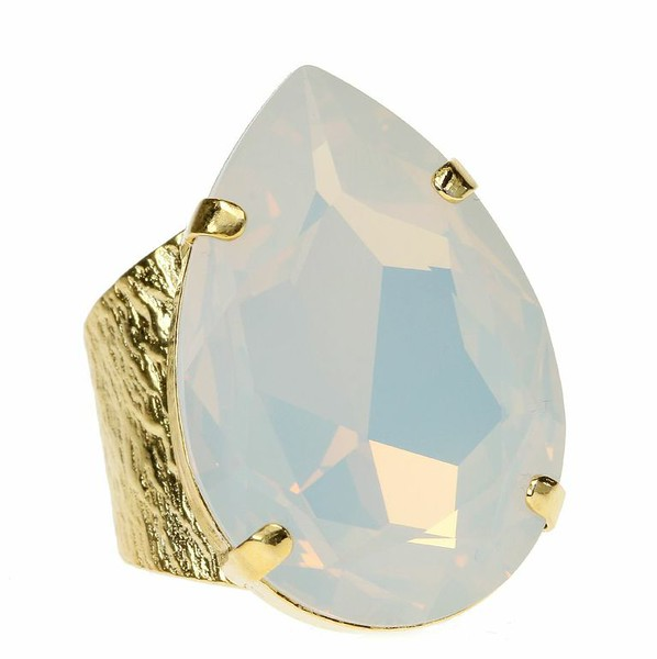 Perfect Drop Ring / White Opal