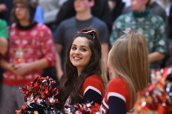 Cheerleaders - Seward Basketball game