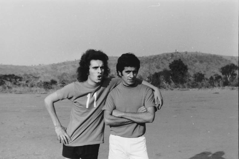 Jogo Andrada-Dundo em 27-07-1974  (resultado 0-4) Carlos Amieiro e Beja