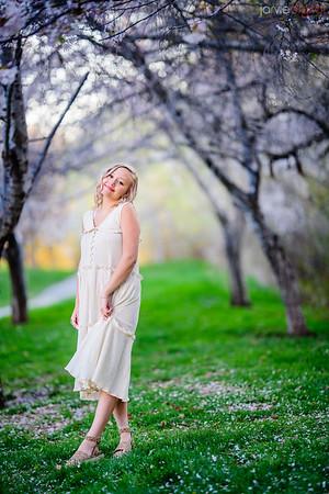 Senior Portraits with Cherry blossoms