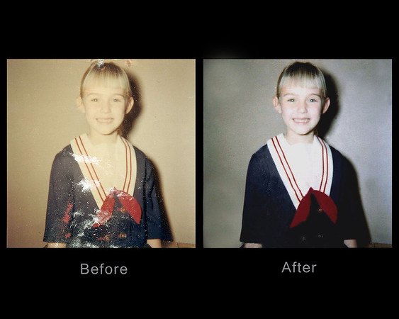 Digital Photo Restoration - Before & After