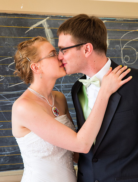 Kissing in front of the chalkboard.jpg