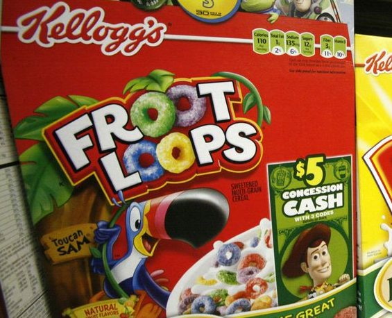 """. <p>10. (tie) FROOT LOOPS <p>Six colors, but only one Froot flavor � whatever the hell that is. (previous ranking: unranked) <p><b><a href=\'http://newsfeed.time.com/2014/01/21/breaking-breakfast-news-froot-loops-are-all-the-same-flavor/\' target=\""""_blank\""""> HUH?</a></b> <p>   (Associated Press photo)"""