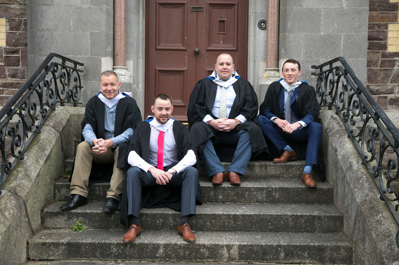 03/11/2017. Waterford Institute of Technology Conferring are Brian Kenny, Kilkenny, John Kelly Portlaw, Ciarian Barron Dungarvan and Garry Byrne Piltown. Picture: Patrick Browne.