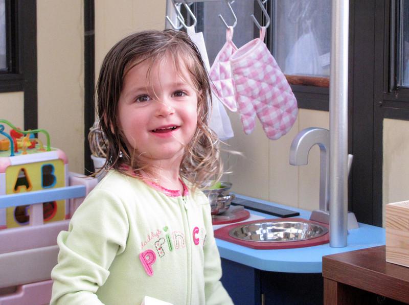 In her kitchen, apres bath_0132