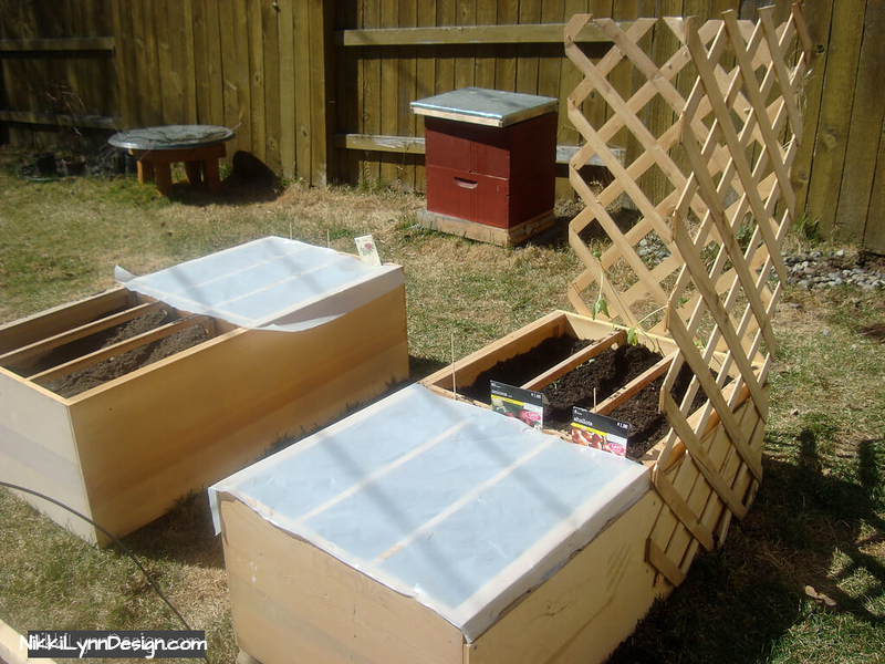 Body of a Dresser Have an old dresser laying around? It makes a wonderful raised bed that allows you to cover the slots with plastic for starting seeds.