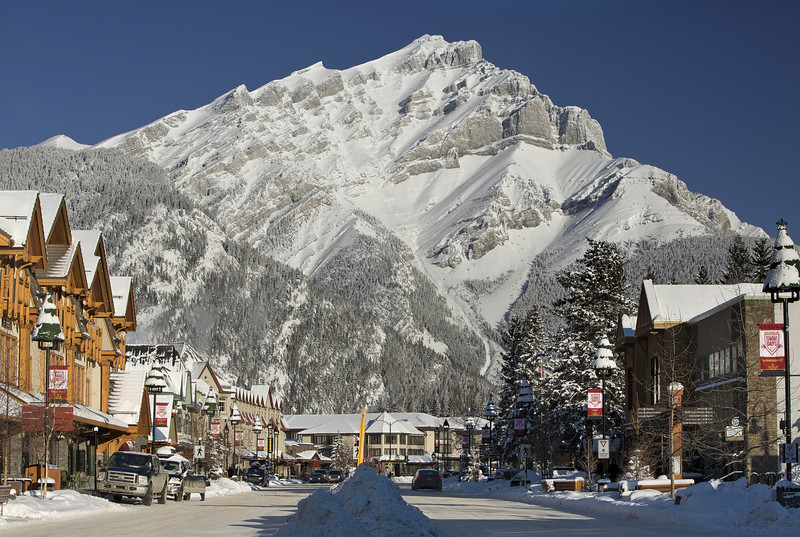 Postcard winter day in Banff I, Alberta, Canada.