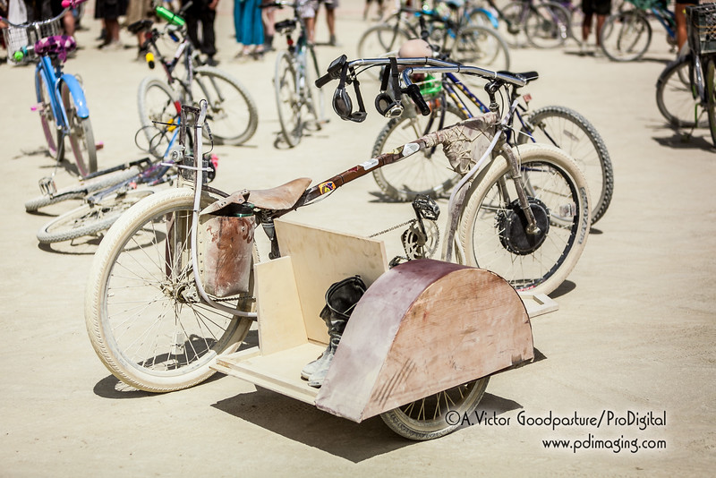 The playa was filled with uniquely and creatively constructed bikes.