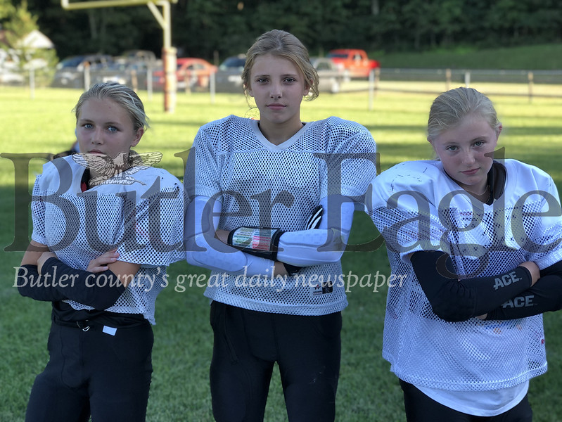 Addison Brink, Addison Burrows and Hailey Laird
