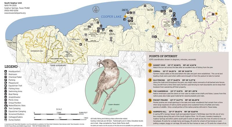 Cooper Lake State Park -- South Sulphur Unit (Trails)