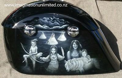 Indian family saddlebags