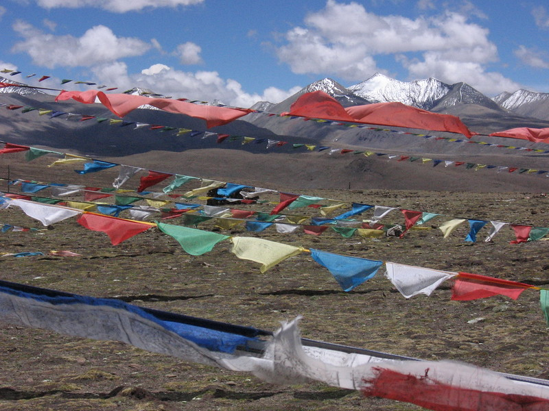 Prayer flags atop a 5,200m pass