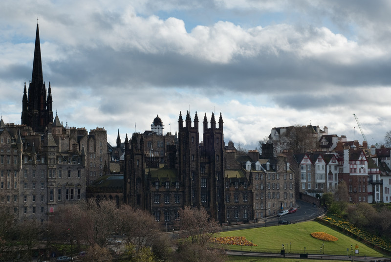 """Old"" Edinburgh from the monument"