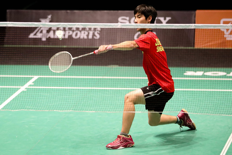 PARA BADMINTON - SIOW HAO LUN JOVENN in action & representing Singapore in MS SL4 Group C Badminton at Bukit Jalil Badminton Court, KL on September 19th, 2017 (Photo by Sanketa Anand)