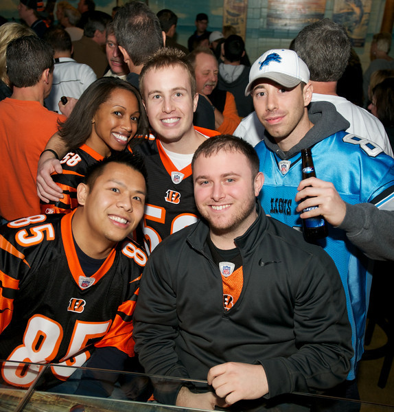 Dave, Ty, Steve, Chris and Trent of NKY at Jerzees for the Bengals game Saturday