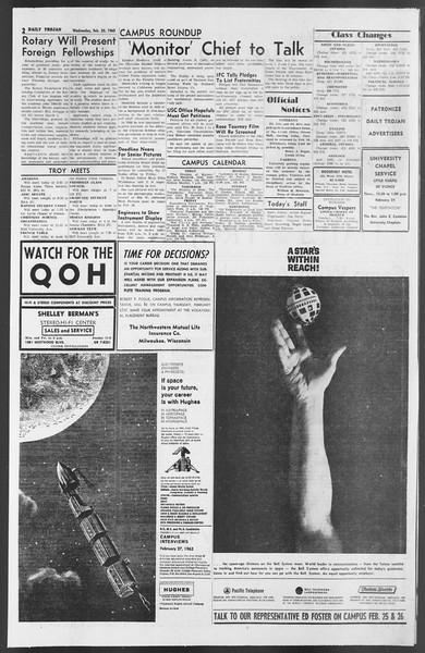 Daily Trojan, Vol. 54, No. 66, February 20, 1963