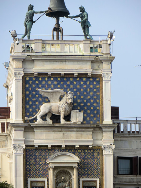 Note the winged lion, just below the top of the tower.