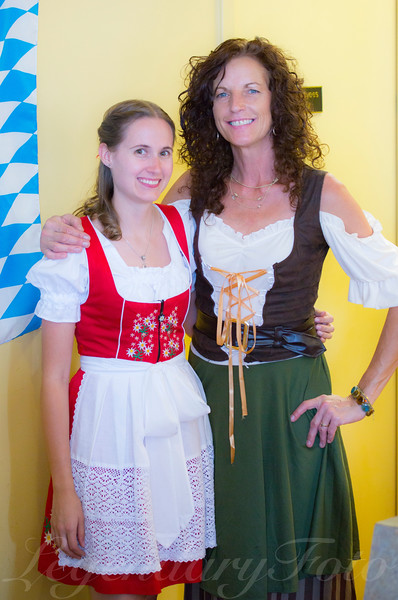 Ashlee and Therese Working Oktoberfest 2013