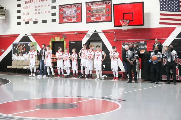 2020-01-08 Calvary Varsity Boys Basketball Game