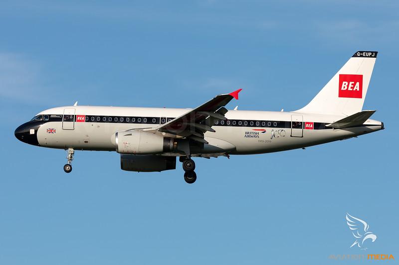"British Airways | Airbus A319-131 | G-EUPJ | ""BEA Retro"" special scheme"