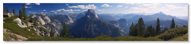 Panorama from Glacier Point, Yosemite September 2006.