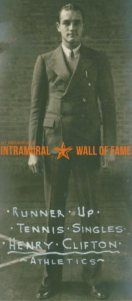 TENNIS Singles Runner-Up  Athletics  Henry Clifton