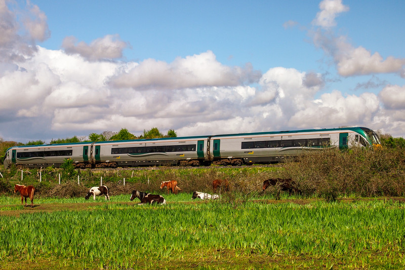 Intercity train near Mullingar