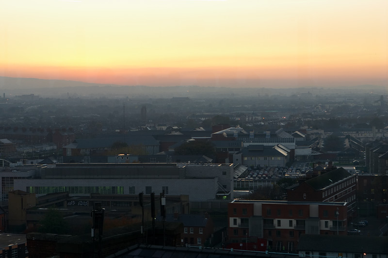 Sunset from the Gravity Bar on the top floor of the Guinness Storehouse