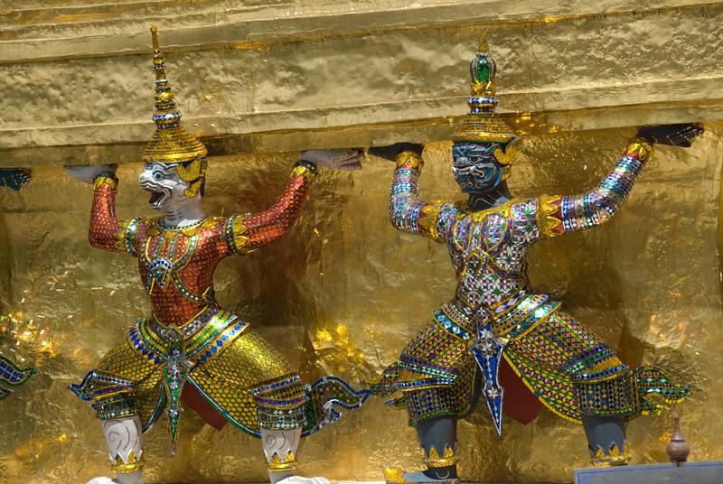 Miniature statues inside Wat Phra Kaew 18 - Bangkok, Thailand