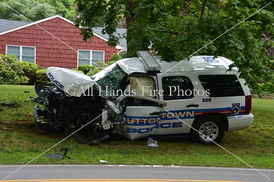 20130703 - Muttontown - Police Car MVA
