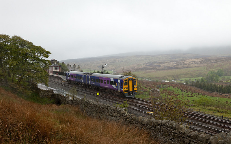 158 861 bound for Carlisle in Garsdale.