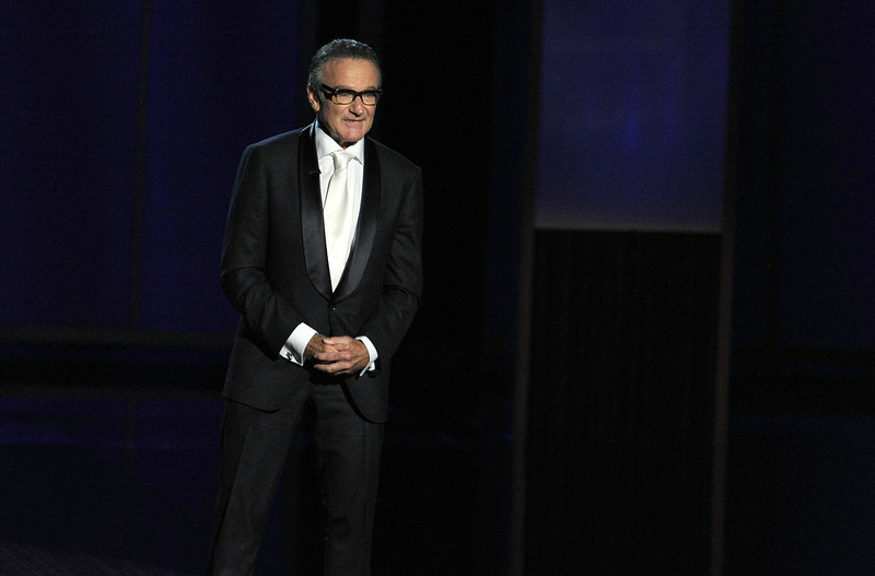 . Presenter Robin Williams speaks onstage during the 65th Annual Primetime Emmy Awards held at Nokia Theatre L.A. Live on September 22, 2013 in Los Angeles, California.  (Photo by Kevin Winter/Getty Images)