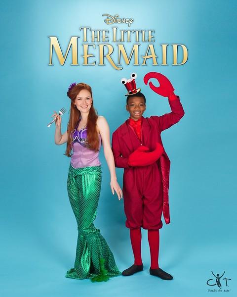 Little Mermaid Logo Portraits