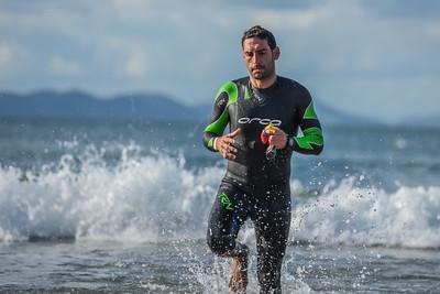 Sandman Triathlon - Swim Exit Red and Yellow Hat