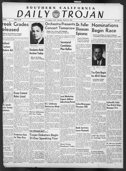 Daily Trojan, Vol. 32, No. 107, March 24, 1941