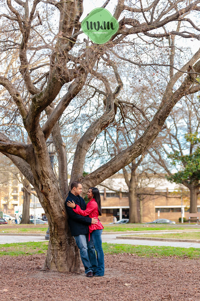 Cozy, Sweet, Downtown Raleigh Winter Engagement Photography - MKM Photography (4).jpg