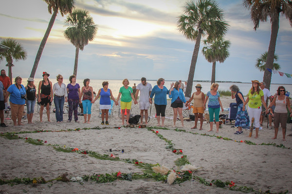 Peace Day Sunset Beach 9 21 2013, Tarpon Springs  FL