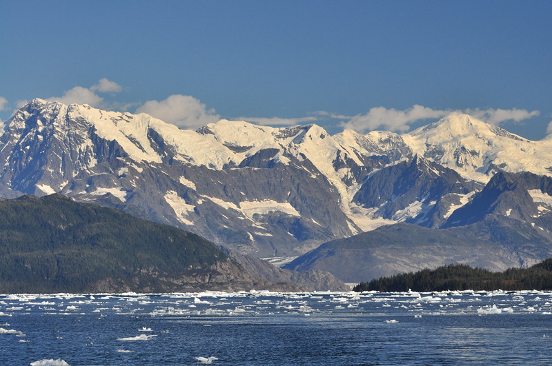 Ice choked Columbia Bay - Prince William Sound, Alaska