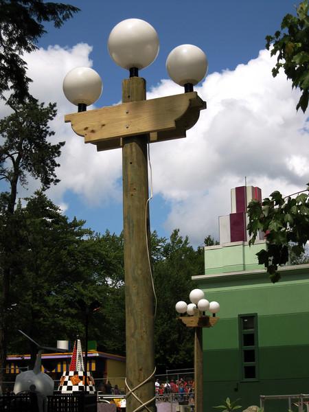 The new Canobie Lake Park light fixtures.