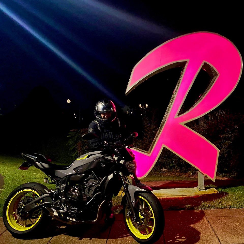 motorcycle blog - yamaha fz07 oink light up R in riverhead new york