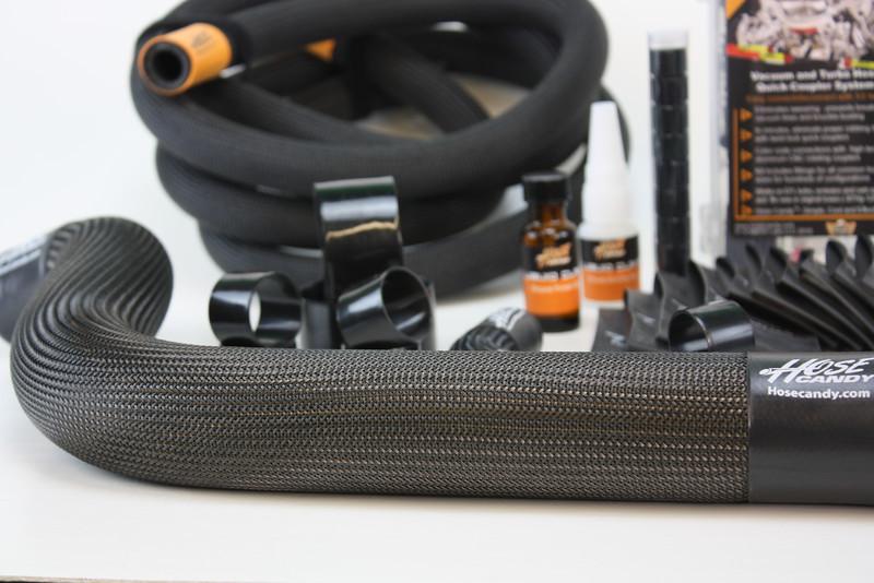 HC Mustang kit closeup carbon fiber upper rad hos IMG_0370.JPG
