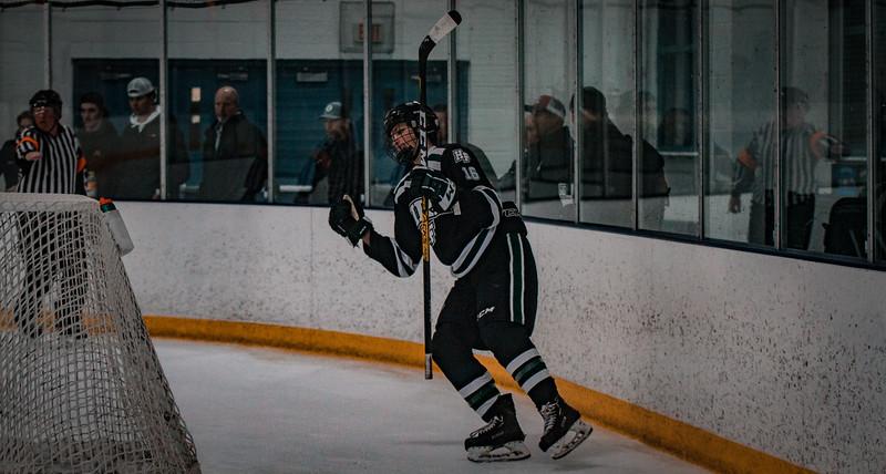 Holy Family Boys Varsity Hockey vs. Elk River, 12/27/19: Lucas Jorgenson '20 (16)