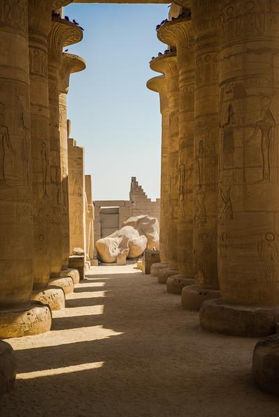 Templo en honor de Ramses. Luxor. Egipto