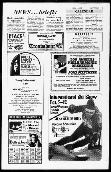 Daily Trojan, Vol. 61, No. 20, October 10, 1969