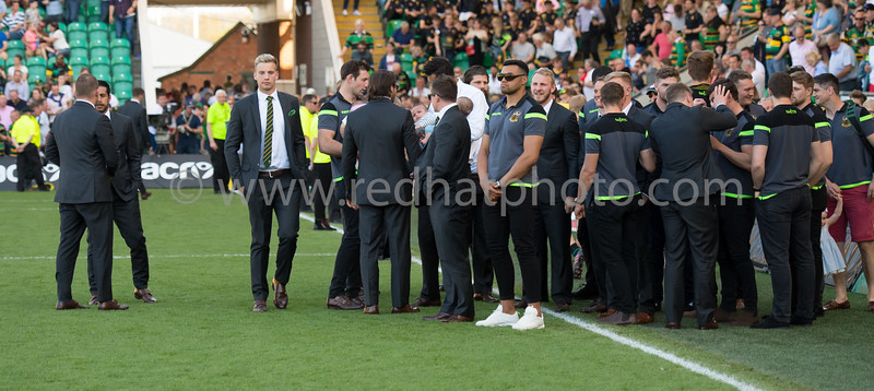 Northampton Saints end of season post match presentations, Franklin's Gardens, 5 May 2018