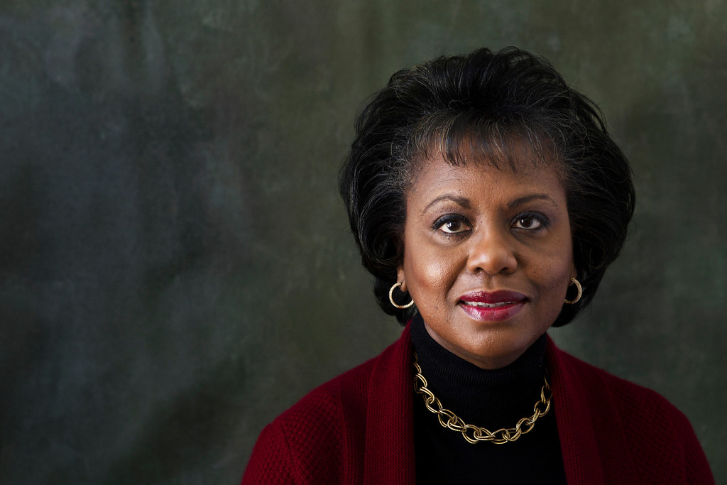 ". Anita Hill poses for a portrait during the Sundance Film Festival on Friday, Jan. 18, 2013, in Park City, Utah. Hill made national headlines in 1991 when she testified that then-Supreme Court nominee Clarence Thomas had sexually harassed her.  Now, more than 20 years later, director Freida Mock explores Hill\'s landmark testimony and the resulting social and political changes in the documentary ""Anita,\"" premiering Saturday at the Sundance Film Festival. (Photo by Victorial Will/Invision/AP)"