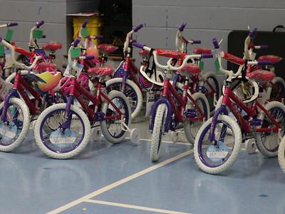 Cheney Elementary Bike Distribution