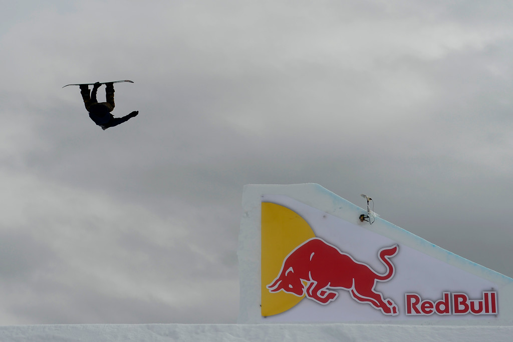 . ASPEN, CO - JANUARY 26: Mark McMorris hits a jump during the men\'s snowboard slopestyle final. X Games Aspen Buettermilk Mountain Aspen January 26, 2013 (Photo By AAron Ontiveroz / The Denver Post)