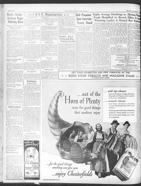 Daily Trojan, Vol. 28, No. 53, December 07, 1936
